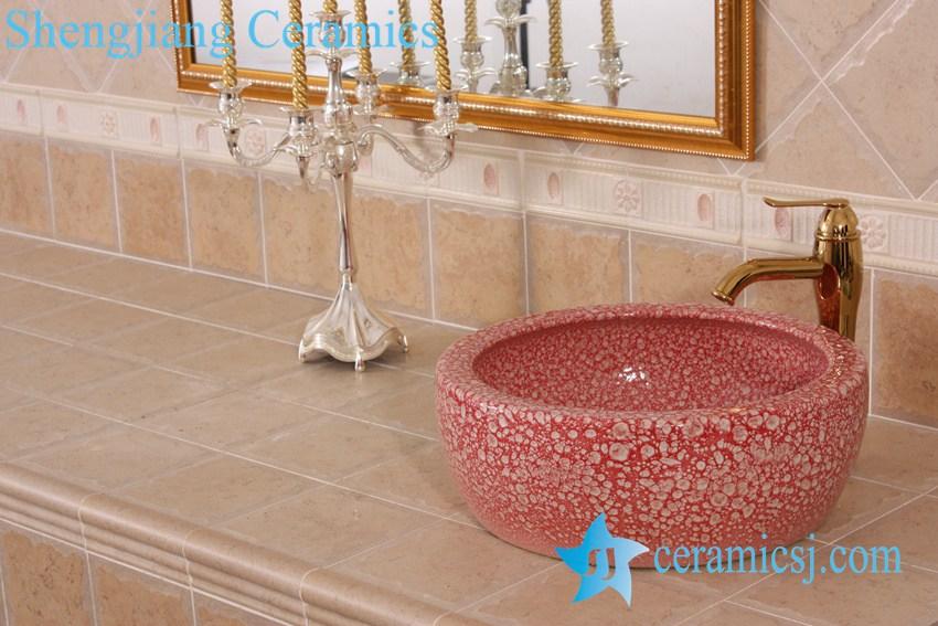 YL-B0_8378-2 YL-B0_8227 China supplier hot sale round waist drum style ceramic sanitary ware wash basin - shengjiang  ceramic  factory   porcelain art hand basin wash sink