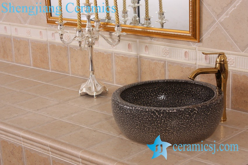 YL-B0_8380 YL-B0_8227 China supplier hot sale round waist drum style ceramic sanitary ware wash basin - shengjiang  ceramic  factory   porcelain art hand basin wash sink