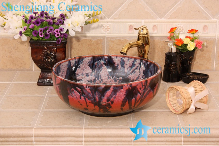 YL-H_6429 YL-H_6429 Unique design bright finished table top ceramic wash basin sink lavobo - shengjiang  ceramic  factory   porcelain art hand basin wash sink