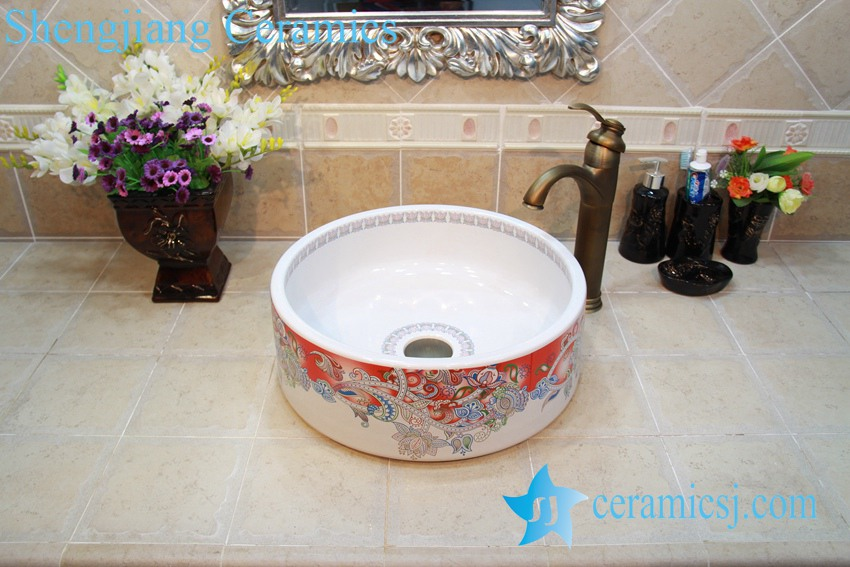 YL-OT_0642 YL-OT_0642 Factory direct bathroom marble sink - shengjiang  ceramic  factory   porcelain art hand basin wash sink