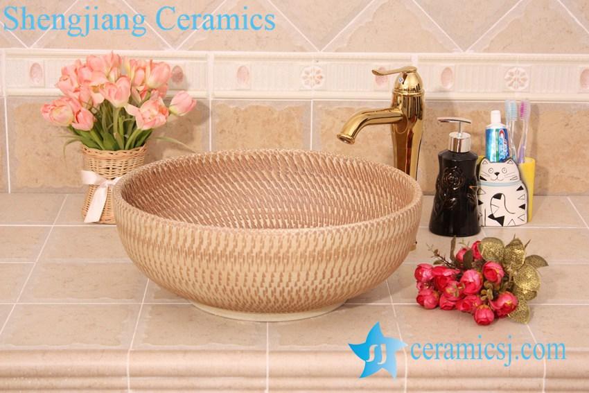 YL-O_6196 YL-O_6196 Hand carving ceramic mini wash basin - shengjiang  ceramic  factory   porcelain art hand basin wash sink