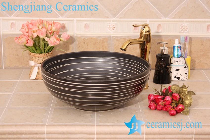 YL-O_6199 YL-O_6199 Black low price pedicure sink - shengjiang  ceramic  factory   porcelain art hand basin wash sink
