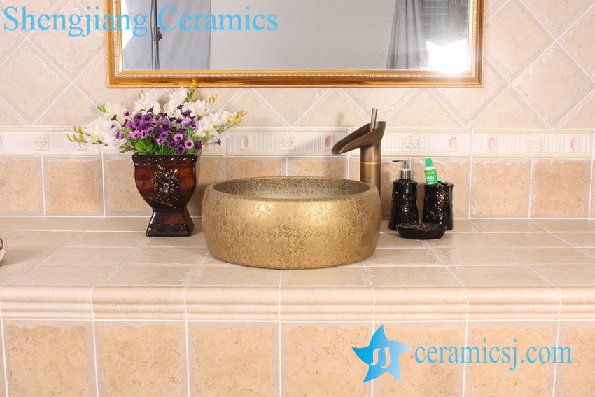 YL-R_8530 YL-R_8530 YL-R_8594 Golden silver gilded ceramic mini wash basin - shengjiang  ceramic  factory   porcelain art hand basin wash sink