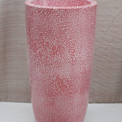 YL-TZ-0035 Rain drop glaze red fancy ceramic pedestal sink basin
