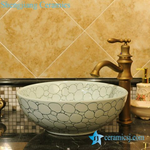 ZY-0066 Unique simple style china ware wash basin india