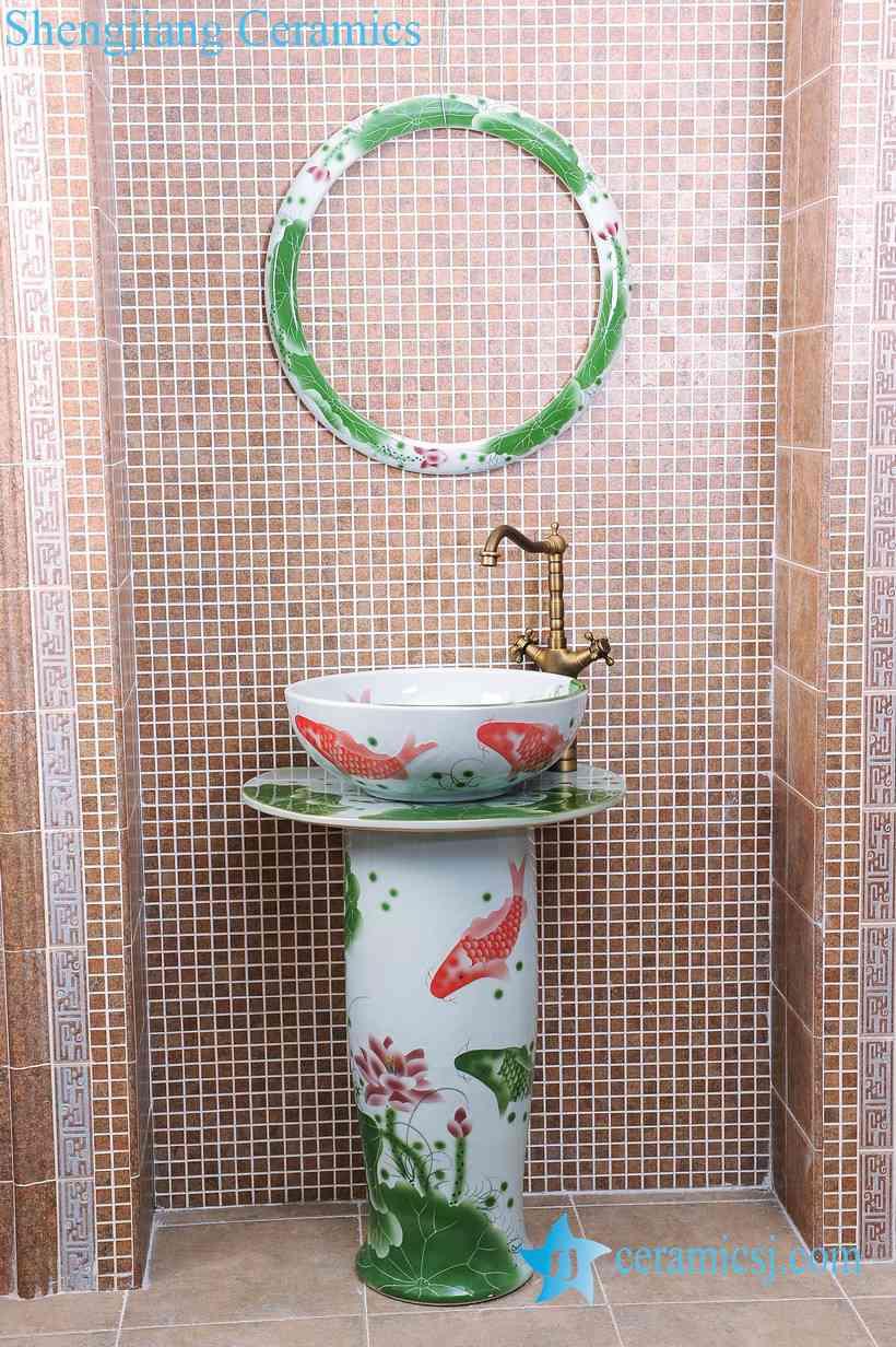 ZY-0098 ZY-0098 China bathroom sink supplier factory direct price hotel restaurant bathroom outdoor sink table, sink pedestal,sink basin - shengjiang  ceramic  factory   porcelain art hand basin wash sink
