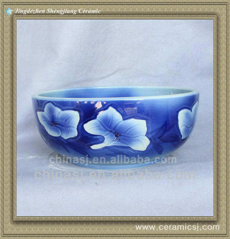 colorful_chinese_ceramic_bathroom_sink_WRYBH93 colorful chinese ceramic bathroom sink WRYBH93 - shengjiang  ceramic  factory   porcelain art hand basin wash sink