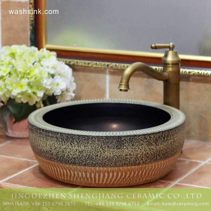 TPAA-205-w15h41j395 TPAA-205 Asian online sale marble style thick ceramic bathroom vanity sets - shengjiang  ceramic  factory   porcelain art hand basin wash sink