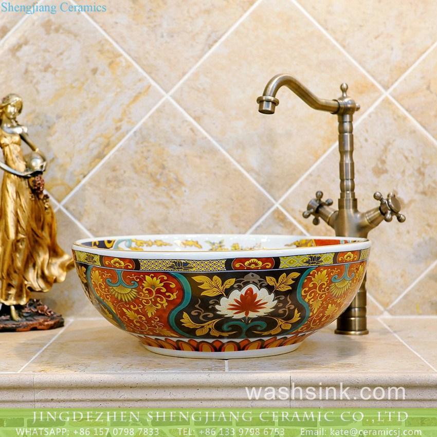 TXT03A-1 TXT03A-1 Nippon style Jingdezhen made gorgeous ceramic wash basin - shengjiang  ceramic  factory   porcelain art hand basin wash sink