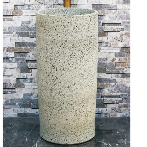 Hot new products white color with black spots outdoor pedestal basin LJ-1028