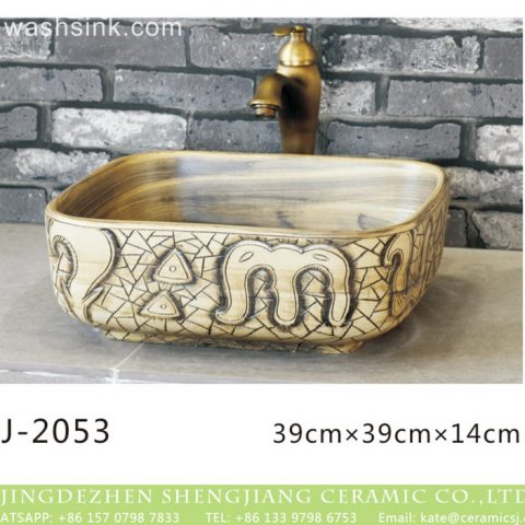 Jingdezhen wholesale durable ceramic with art special pattern thick edge sanitary ware  LJ-2053