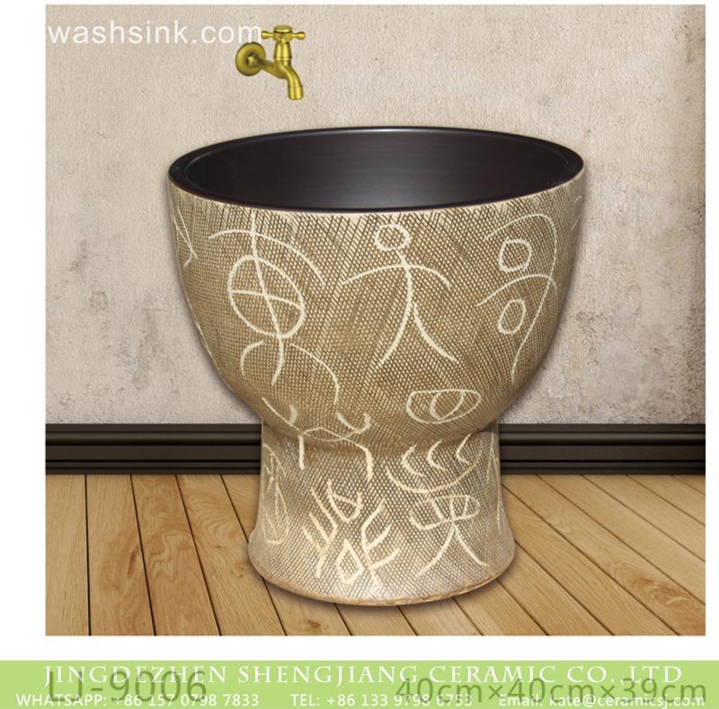 LJ-9006 Shengjiang factory direct floor mop bathroom art basin  LJ-9006 - shengjiang  ceramic  factory   porcelain art hand basin wash sink