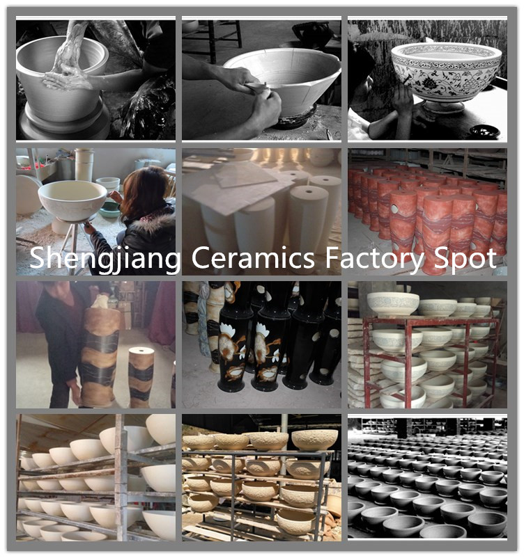 sink-factory-image About Us - shengjiang  ceramic  factory   porcelain art hand basin wash sink
