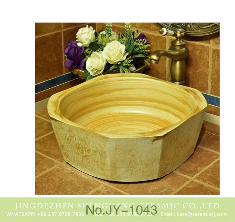 SJJY-1043-12仿古四方盆_10 Porcelain city Jingdezhen produce wood surface durable lavabo     SJJY-1043-12 - shengjiang  ceramic  factory   porcelain art hand basin wash sink