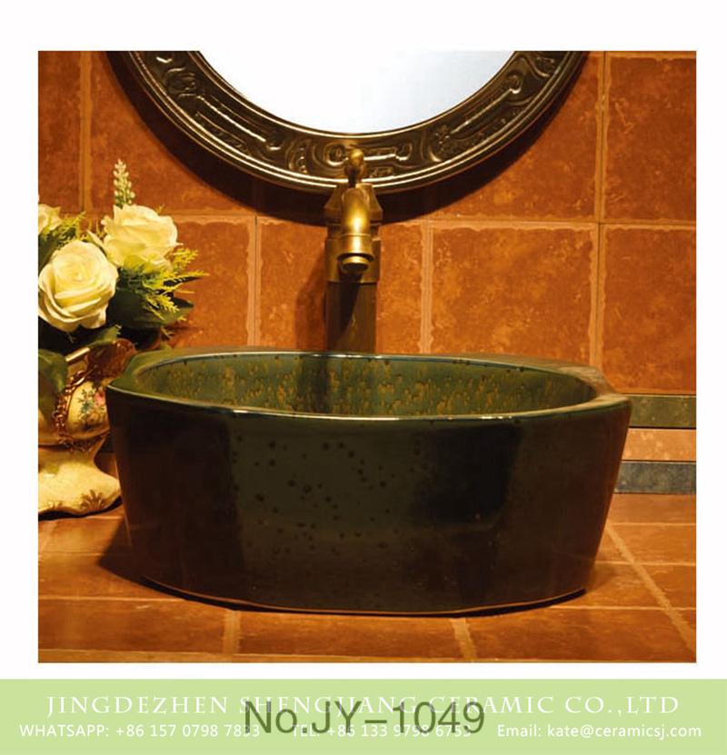SJJY-1049-13仿古四方盆_03 Jingdezhen wholesale dark color octagonal shape vanity basin     SJJY-1049-13 - shengjiang  ceramic  factory   porcelain art hand basin wash sink