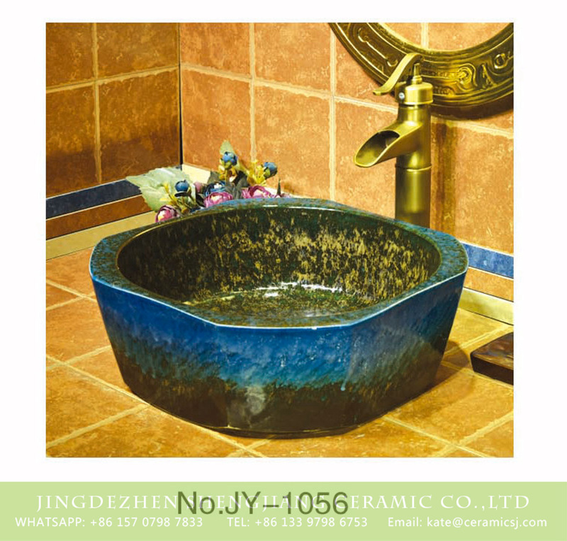 SJJY-1056-13仿古四方盆_11 Hot sale hand painted dark blue color art wash basin    SJJY-1056-13 - shengjiang  ceramic  factory   porcelain art hand basin wash sink