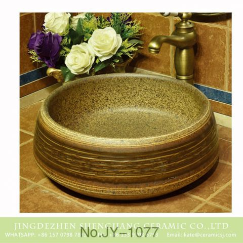 Made in Jingdezhen durable imitating marble ceramic sink     SJJY-1077-15