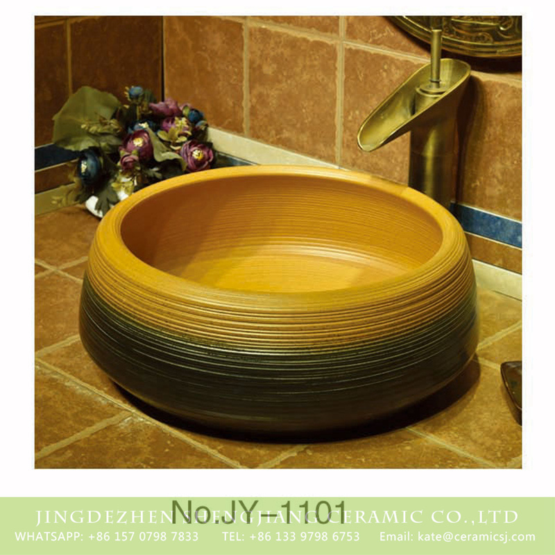 SJJY-1101-17仿古聚宝盆_08 China traditional style high quality ceramic durable wash sink   SJJY-1101-17 - shengjiang  ceramic  factory   porcelain art hand basin wash sink