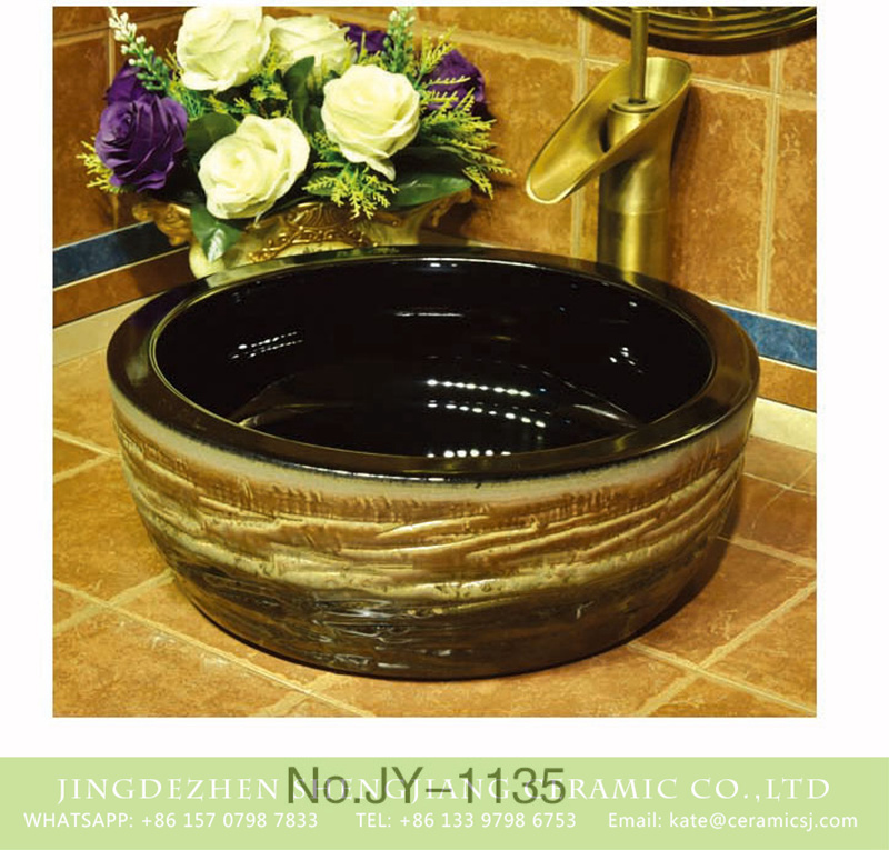 SJJY-1135-21仿古腰鼓盆_10-1 China high quality ceramic product high gloss wash sink    SJJY-1135-21 - shengjiang  ceramic  factory   porcelain art hand basin wash sink