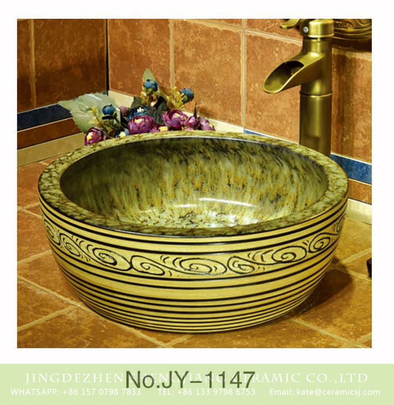 SJJY-1147-22仿古腰鼓盆_09 Chinese supplier low price unique design wash hand basin    SJJY-1147-22 - shengjiang  ceramic  factory   porcelain art hand basin wash sink