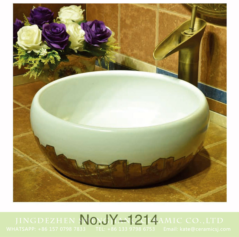SJJY-1214-29仿古腰鼓盆_03 Asia style white color and hand painted unique design bottom sanitary ware    SJJY-1214-29 - shengjiang  ceramic  factory   porcelain art hand basin wash sink