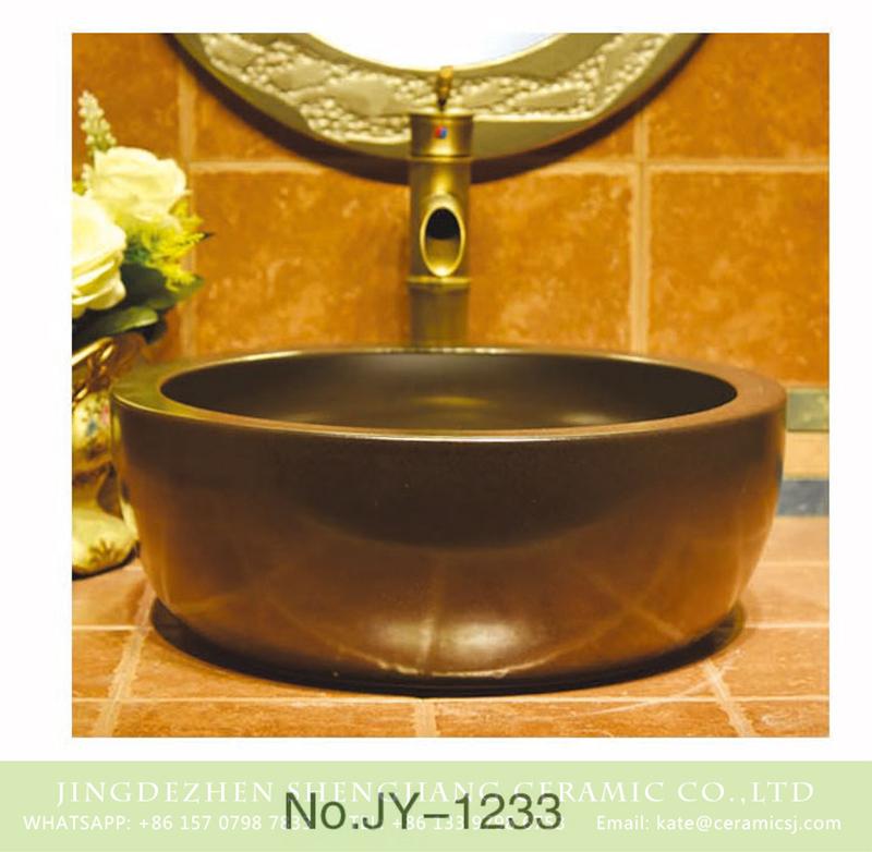 SJJY-1233-30仿古腰鼓盆_11 Jingdezhen factory large bulk sale easy clean ceramic coppery sanitary ware    SJJY-1233-30 - shengjiang  ceramic  factory   porcelain art hand basin wash sink