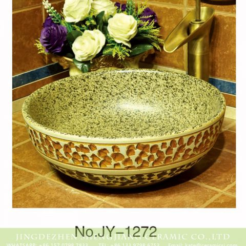 China traditional high quality wash basin with marble inner wall and hand carved surface    SJJY-1272-33