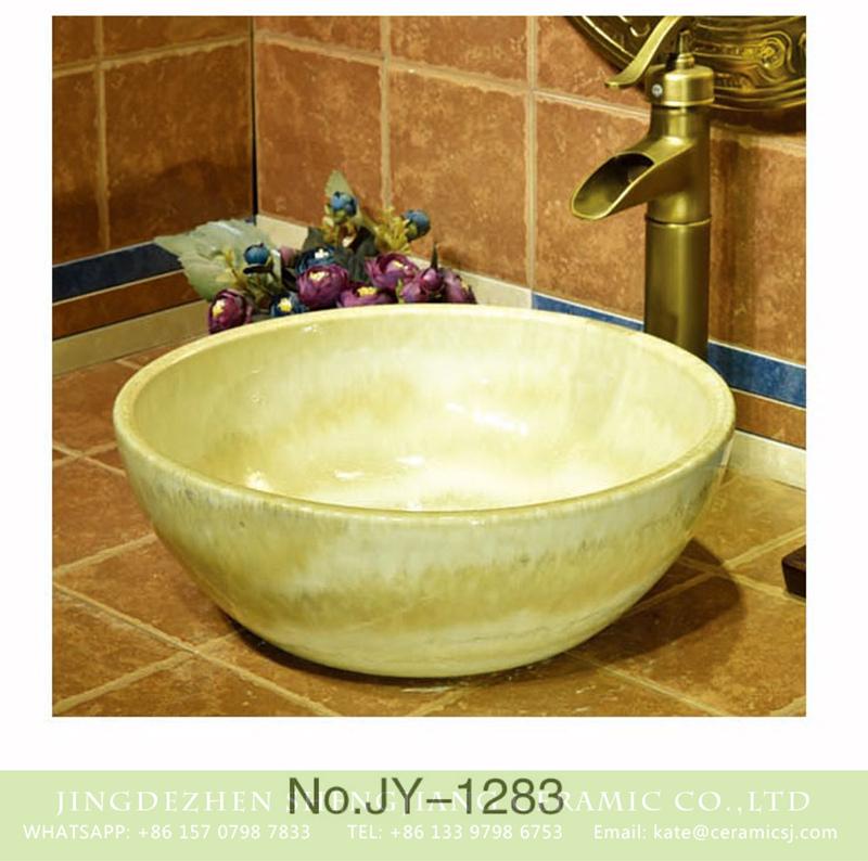 SJJY-1283-34仿古碗盆_13 Factory outlet high gloss art ceramic hotel independent hung wash sink    SJJY-1283-34 - shengjiang  ceramic  factory   porcelain art hand basin wash sink