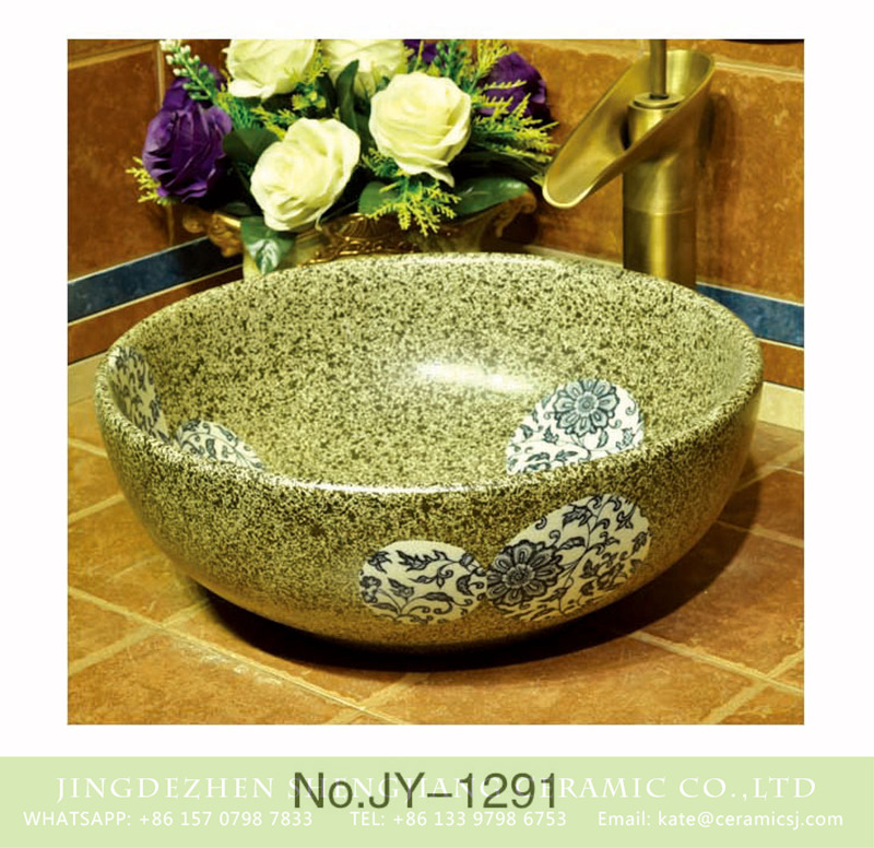 SJJY-1291-35仿古碗盆_09 Asia online sale marble style with blue and white pattern sanitary ware    SJJY-1291-35 - shengjiang  ceramic  factory   porcelain art hand basin wash sink