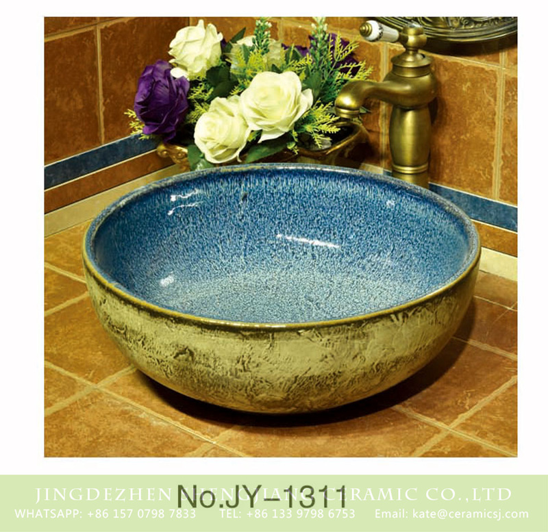 SJJY-1311-37仿古碗盆_04 China ancient porcelain smooth blue color inner wall wash hand basin    SJJY-1311-37 - shengjiang  ceramic  factory   porcelain art hand basin wash sink