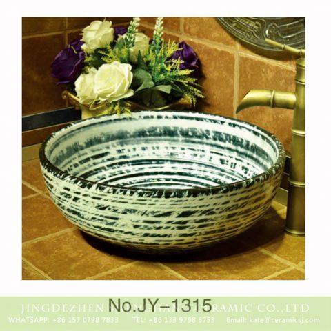 Porcelain of Jingdezhen produce green color round art sink    SJJY-1315-37