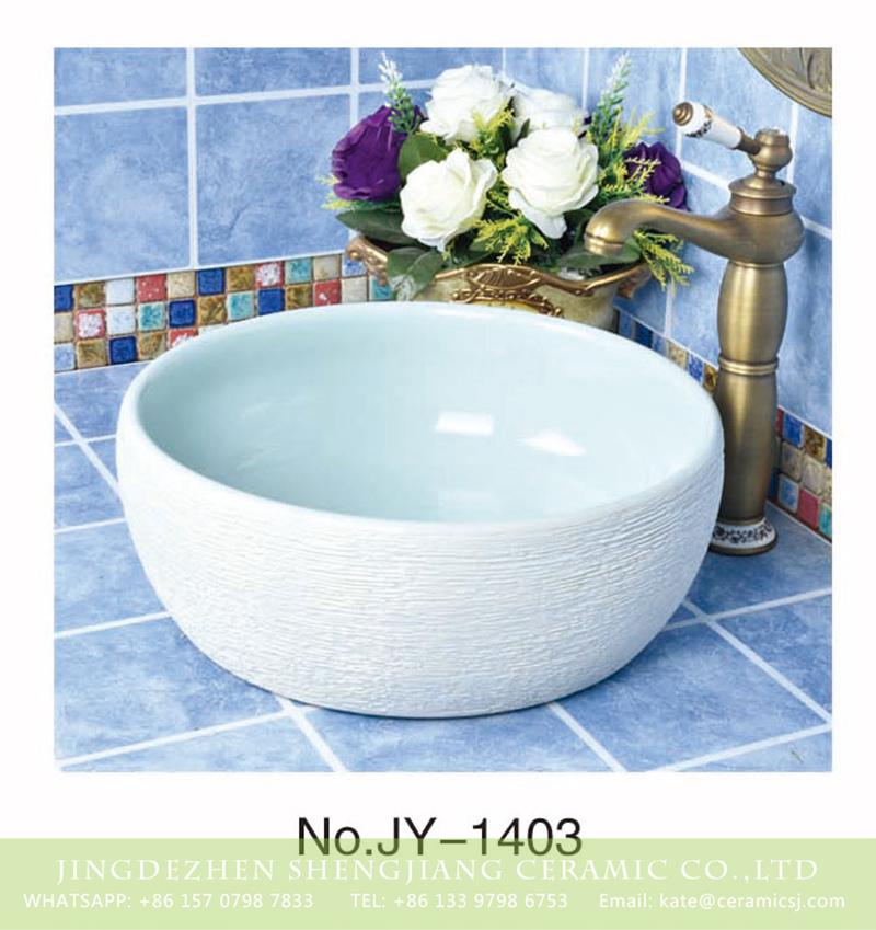SJJY-1403-46颜色釉单盆_03 Factory price porcelain solid color toilet basin      SJJY-1403-46 - shengjiang  ceramic  factory   porcelain art hand basin wash sink
