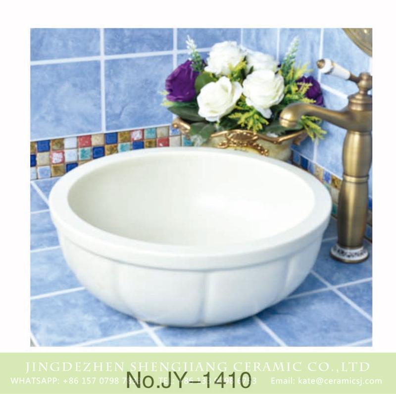 SJJY-1410-46颜色釉单盆_11 China online sale white ceramic thick edge durable wash sink     SJJY-1410-46 - shengjiang  ceramic  factory   porcelain art hand basin wash sink