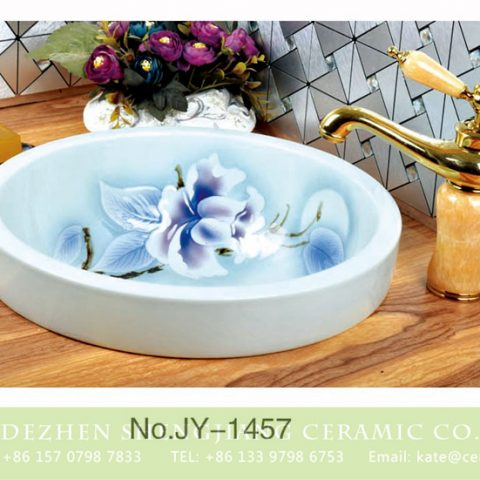 Art white ceramic with flowers pattern        SJJY-1457-52