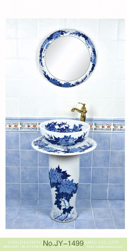 SJJY-1499-58青花柱盆_08-521x1024 Arts and crafts outdoor blue and white ceramic with pattern design pedestal wash basin      SJJY-1499-58 - shengjiang  ceramic  factory   porcelain art hand basin wash sink