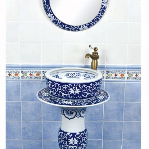 Hand craft blue and white porcelain art basin     SJJY-1500-58
