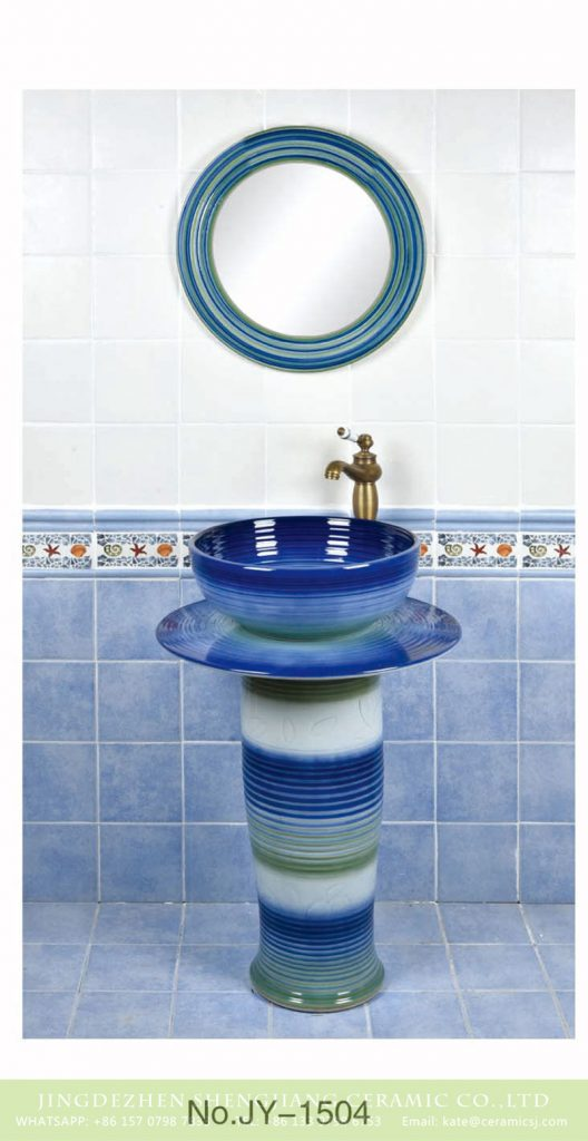 SJJY-1504-59立柱盆_07-528x1024 Jingdezhen wholesale blue color glazed art column basin      SJJY-1504-59 - shengjiang  ceramic  factory   porcelain art hand basin wash sink