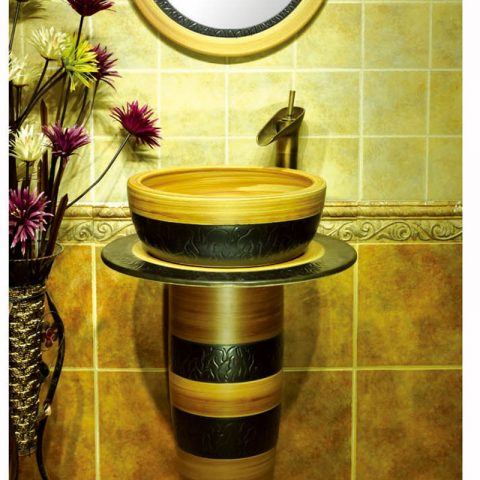 China exporter best choice wood color one piece basin      SJJY-1520-62