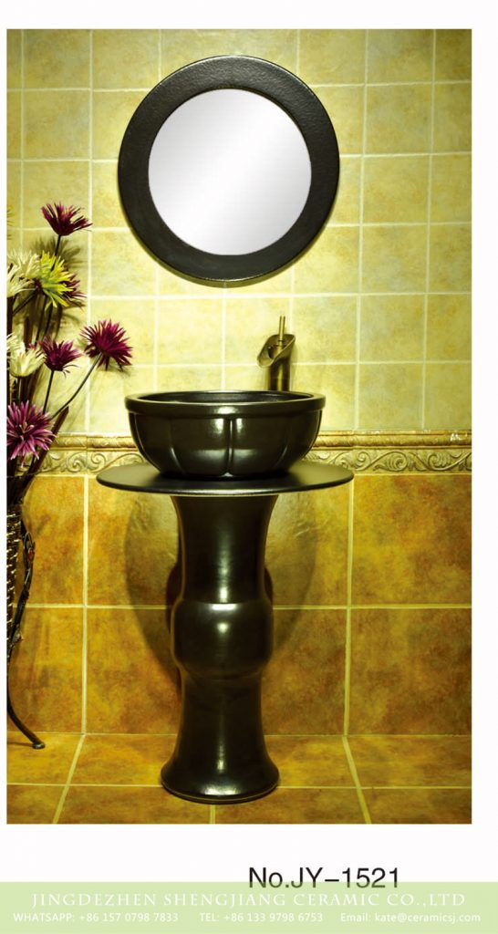 SJJY-1521-62立柱盆_05-546x1024 Large bulk sale matte black color column basin     SJJY-1521-62 - shengjiang  ceramic  factory   porcelain art hand basin wash sink