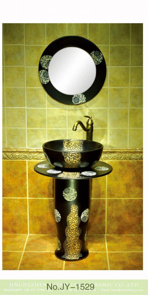 SJJY-1529-63立柱盆_08-514x1024 Fancy bathroom art black ceramic type pedestal basin     SJJY-1529-63 - shengjiang  ceramic  factory   porcelain art hand basin wash sink