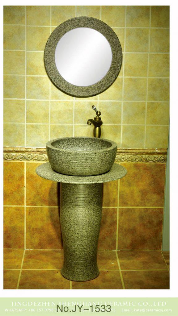 SJJY-1533-64立柱盆_05-576x1024 Jingdezhen porcelain city produce imitate marble one piece basin       SJJY-1533-64 - shengjiang  ceramic  factory   porcelain art hand basin wash sink