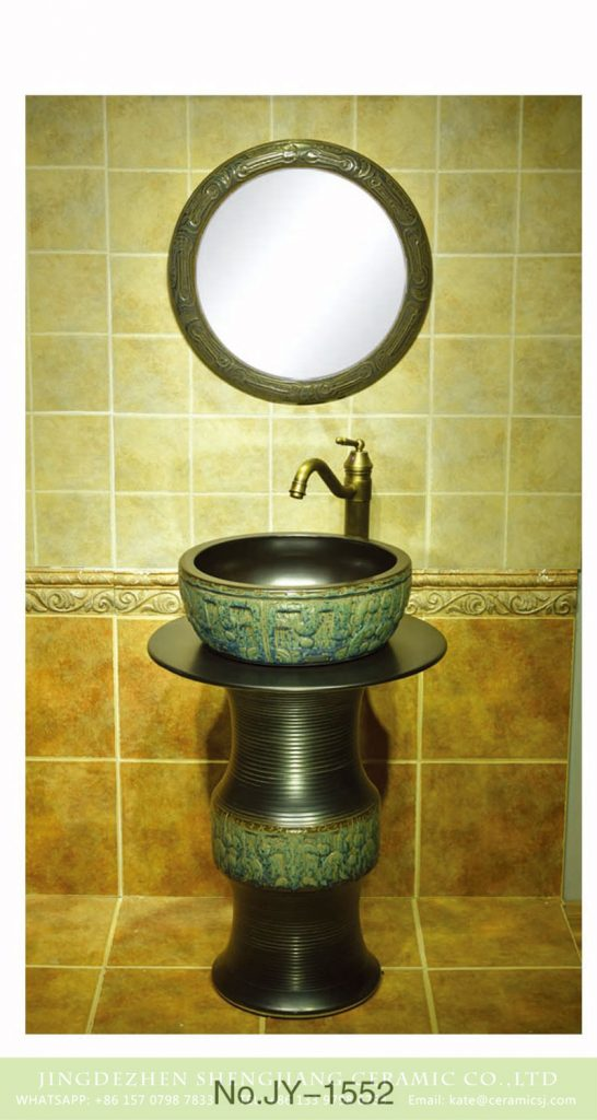 SJJY-1552-67立柱盆_07-546x1024 SJJY-1552-67   Antique style plain black ceramic one piece basin - shengjiang  ceramic  factory   porcelain art hand basin wash sink
