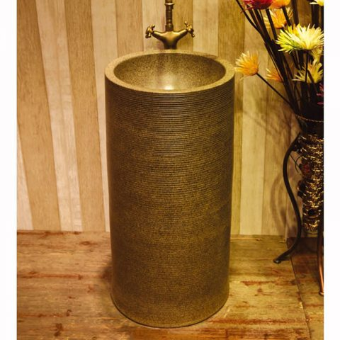 SJJY-1561-71   Factory outlet high temperature porcelain durable column basin