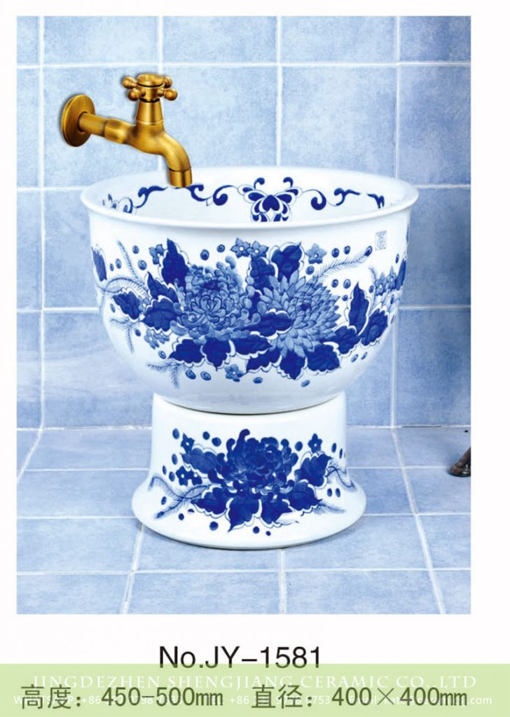 SJJY-1581-74拖把池_03-728x1024 SJJY-1581-74  Round shape blue and white mop sink - shengjiang  ceramic  factory   porcelain art hand basin wash sink