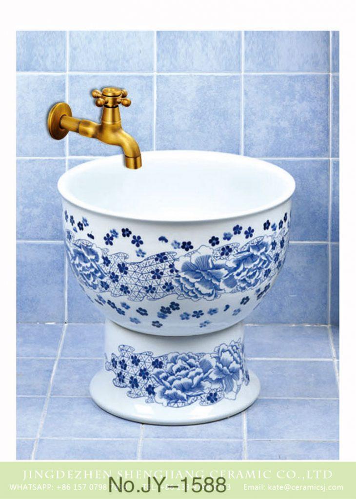 SJJY-1588-74拖把池_11-730x1024 SJJY-1588-74  Shengjiang factory direct sale blue and white ceramic flowers pattern sink - shengjiang  ceramic  factory   porcelain art hand basin wash sink