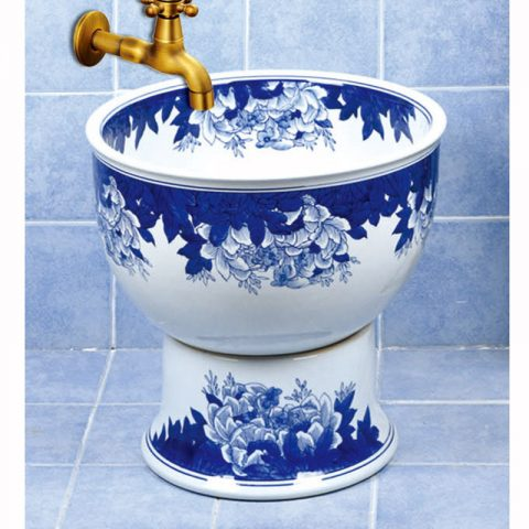 SJJY-1590-75   Hand painted vine pattern porcelain home decor mop pool