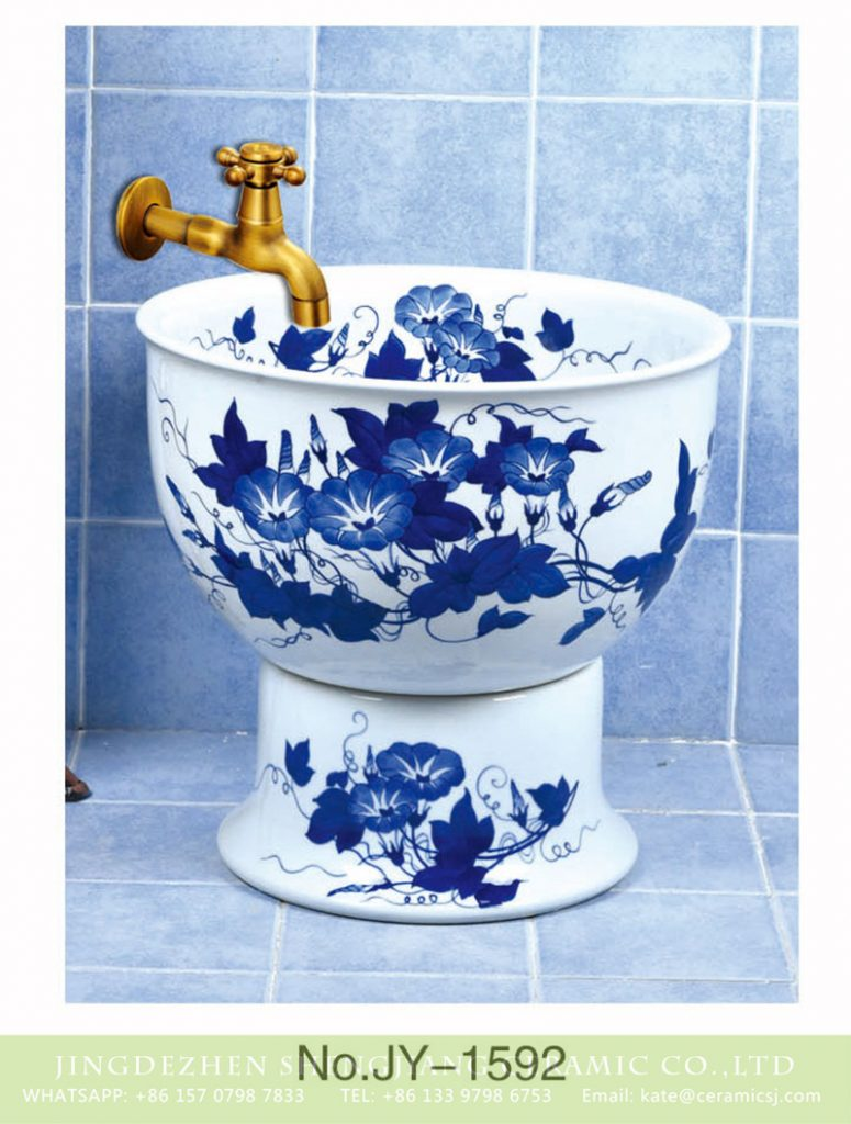 SJJY-1592-75拖把池_05-775x1024 SJJY-1592-75   Popular sale item Jingdezhen factory blue and white ceramic with petunia device sink - shengjiang  ceramic  factory   porcelain art hand basin wash sink