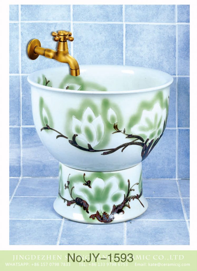 SJJY-1593-75拖把池_07-747x1024 SJJY-1593-75  Home decor leafy branches device mop sink - shengjiang  ceramic  factory   porcelain art hand basin wash sink