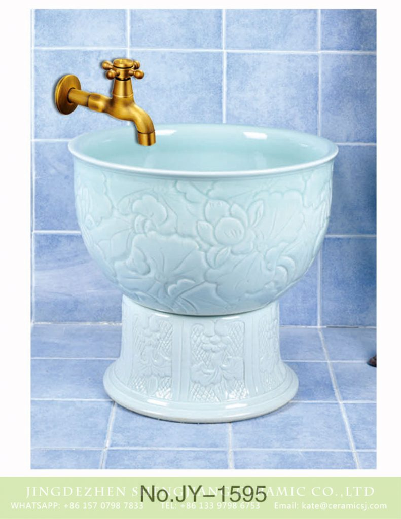 SJJY-1595-75拖把池_09-791x1024 SJJY-1595-75  Handmade ceramic solid color easy cleaning mop sink - shengjiang  ceramic  factory   porcelain art hand basin wash sink
