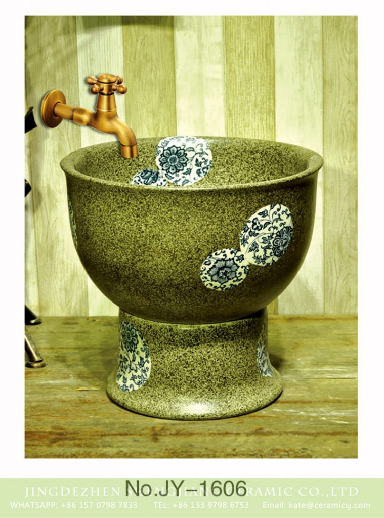 SJJY-1606-76拖把池_11-759x1024 SJJY-1606-76   Best selling imitate marble ceramic with blue and white device pool - shengjiang  ceramic  factory   porcelain art hand basin wash sink